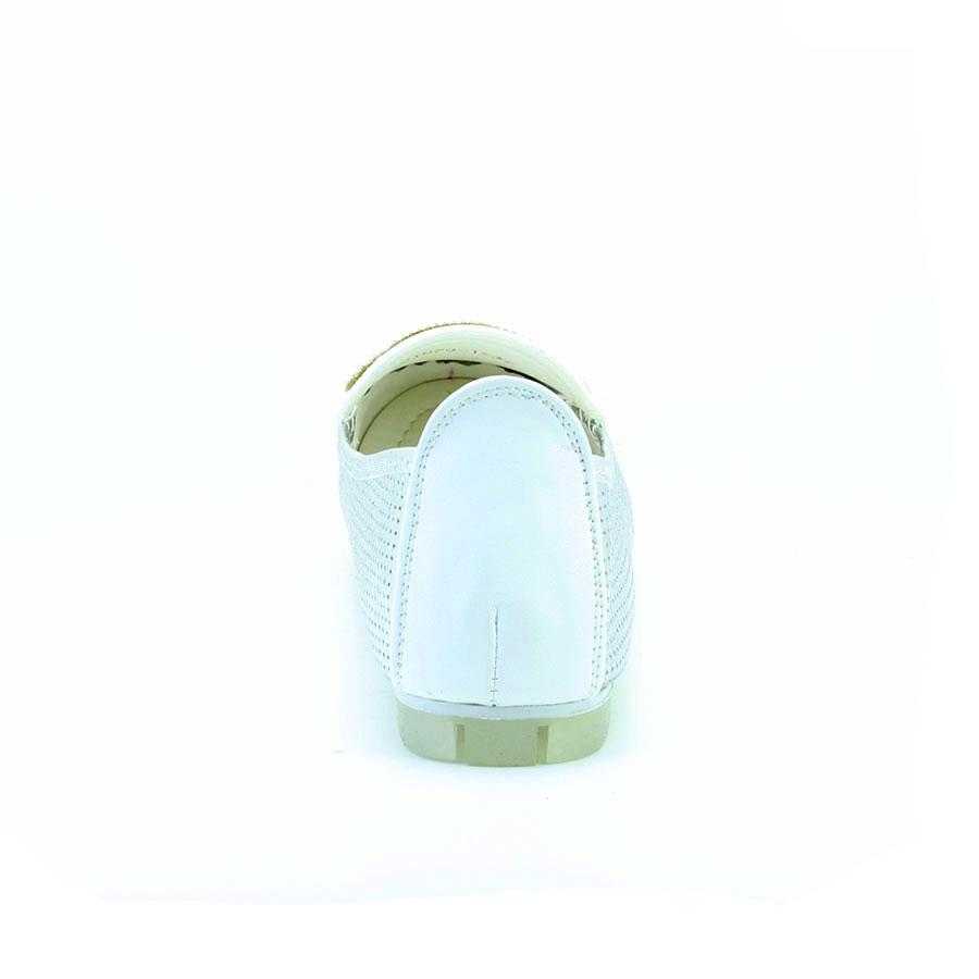 Guja 1079-1 Gümüş/Beyaz Taşlı Kadın Babet - Thumbnail