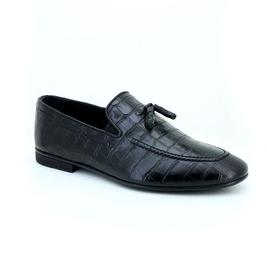 3177c9ea7133a Komcero 3059-1258 Siyah Krokodil Klasik Erkek Ayakkabı Klasik Komcero