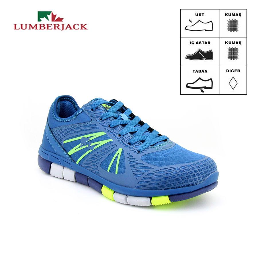 Lumberjack Prince Petrol/Lime Erkek Spor Ayakkabı - Thumbnail