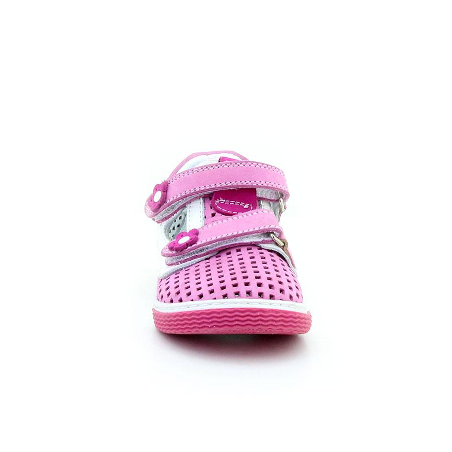 Mini Can 45 Fusya/Beyaz Bebe Ayakkabı - Thumbnail