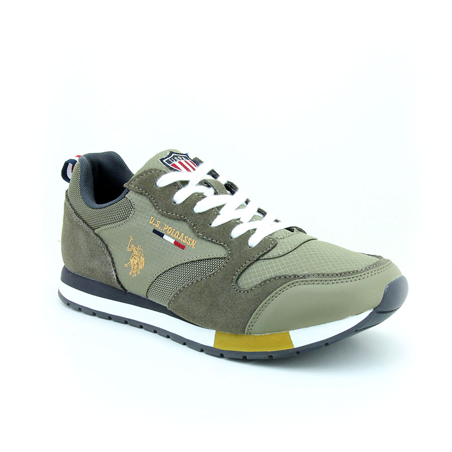 U.S. Polo Assn. 100248550 Giant Haki Erkek Sneaker Ayakkabı - Thumbnail