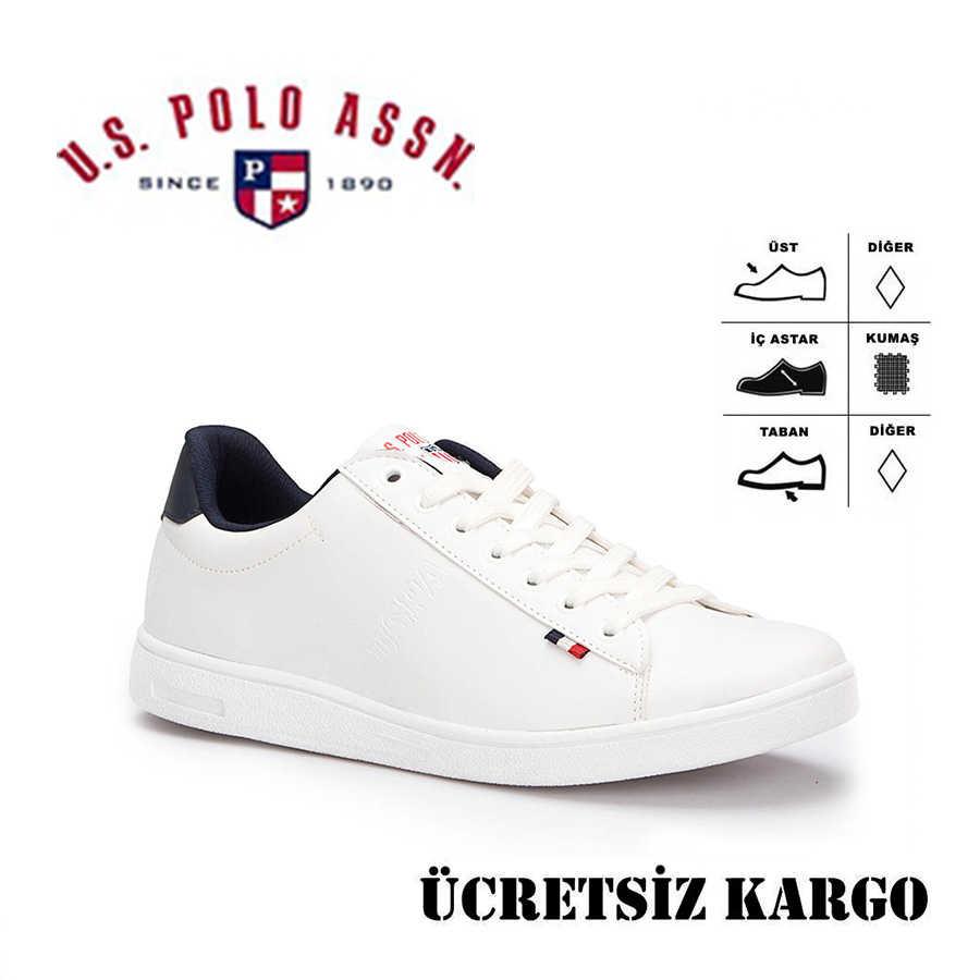 U.S. Polo Assn. 100249743 Franco Beyaz Erkek Spor Ayakkabı