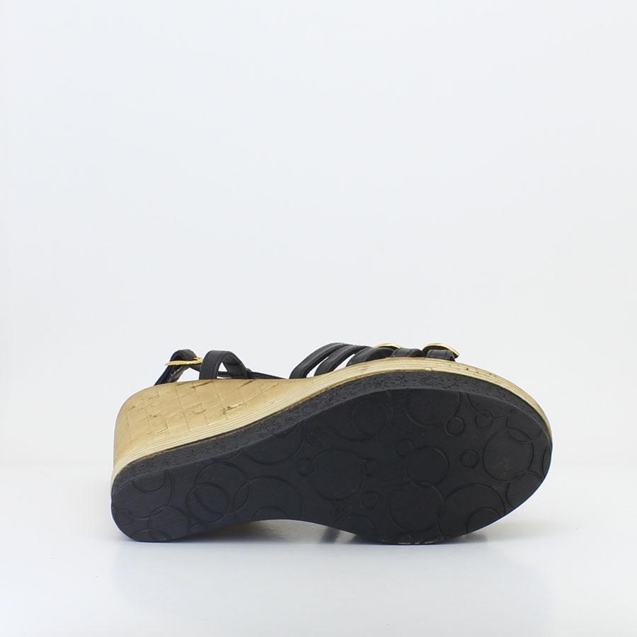 Venüs 246104 Siyah Kadın Sandalet - Thumbnail