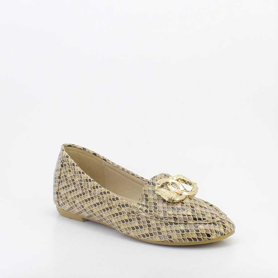 Yees 10001 Bej Kadın Babet Ayakkabı - Thumbnail