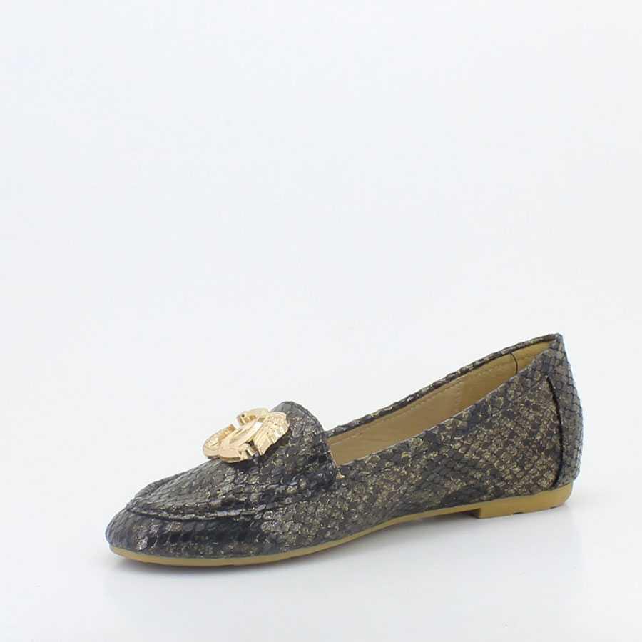 Yees 10001 Siyah Kadın Babet Ayakkabı - Thumbnail