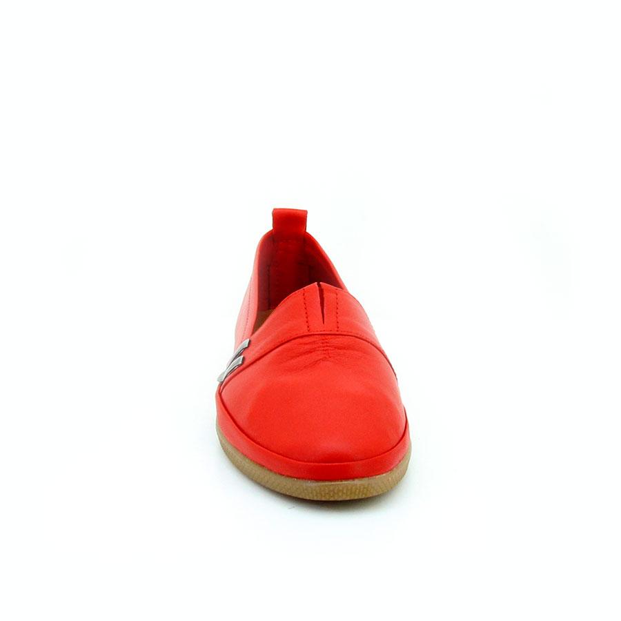 Estile 61 Kırmızı Deri Kadın Babet - Thumbnail